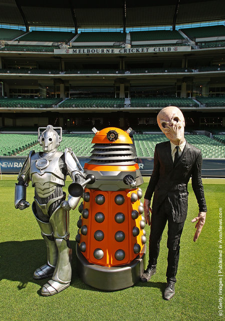 A Dalek, a Cyberman and a Silence invade the Melbourne Cricket Ground