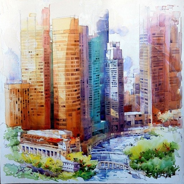 Watercolor Painting By Jack Tia Kee Woon