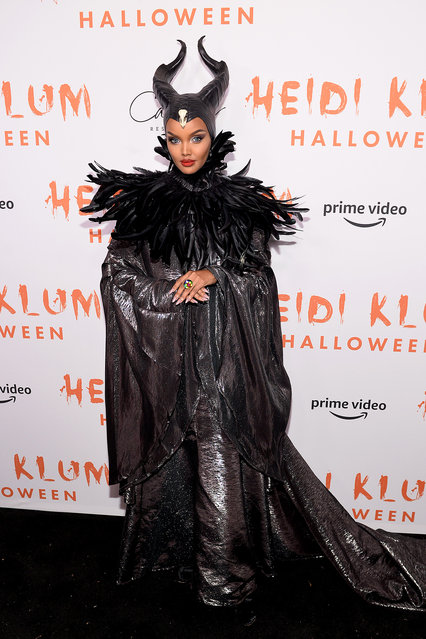 Halima Aden attends Heidi Klum's 20th Annual Halloween Party presented by Amazon Prime Video and SVEDKA Vodka at Cathédrale New York on October 31, 2019 in New York City. (Photo by Noam Galai/Getty Images for Heidi Klum)