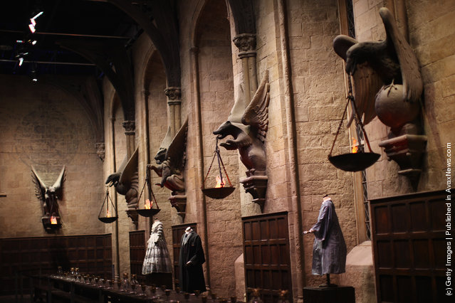 A general view of the 'Great Hall' at the new Harry Potter Studio Tour at Warner Brothers Leavesden Studios