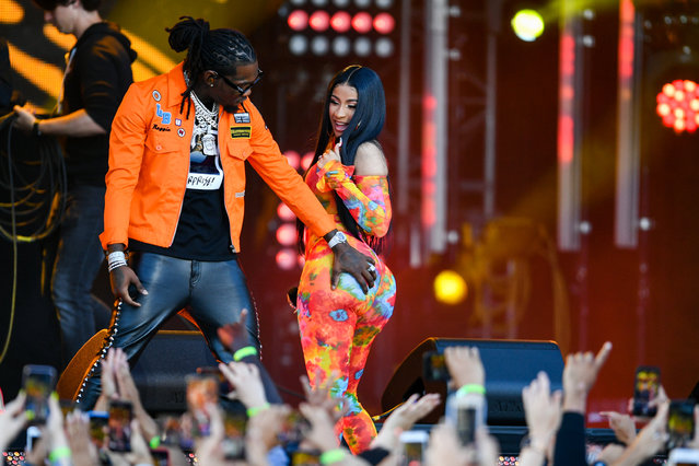 Offset and Cardi B are seen on July 17, 2019 in Los Angeles, California. (Photo by PG/Bauer-Griffin/GC Images)