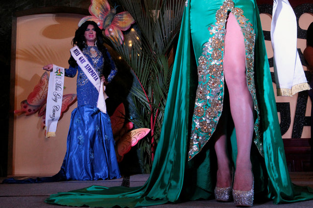 """Participants take part in the """"Miss Gay Nicaragua 2016"""" beauty pageant in Managua, Nicaragua June 25, 2016. Picture taken June 25, 2016. (Photo by Oswaldo Rivas/Reuters)"""