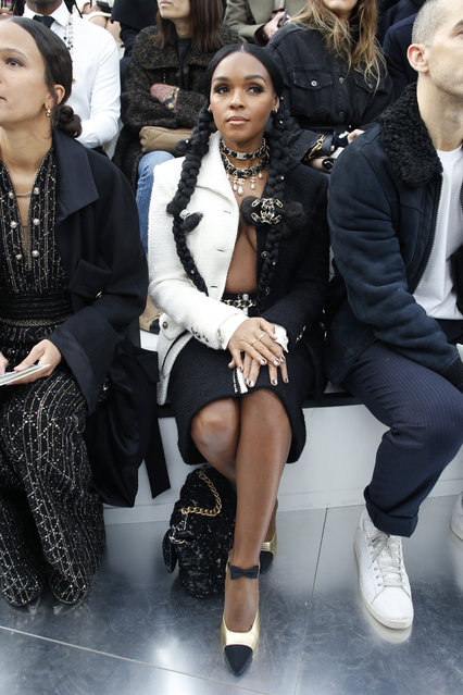 American singer Janelle Monae attends Chanel fashion collection during Women's fashion week Fall/Winter 2020/21 presented Tuesday, March 3, 2020 in Paris. (Photo by Thibault Camus/AP Photo)
