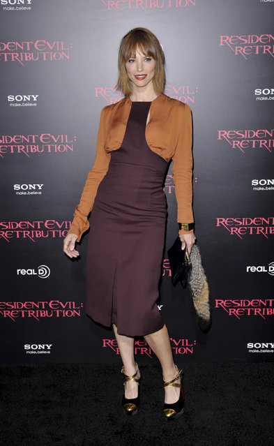 Sienna Guillory. Resident Evil: Retribution - Los Angeles Premiere - Arrivals. Los Angeles, California - 12.09.12. Mandatory Credit: Apega/WENN.com