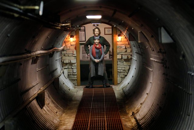 In this November 2, 2017 photo, Mathew Fulkerson and his wife Leigh Ann pose at their Subterra Airbnb located in a former underground missile silo base near Eskridge, Kan. (Photo by Thad Allton/The Topeka Capital-Journal via AP Photo)
