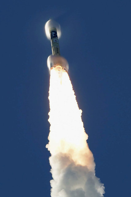An H-IIA rocket with United Arab Emirates' Mars orbiter Hope lifts off from Tanegashima Space Center in Kagoshima, southern Japan Monday, July 20, 2020. A United Arab Emirates spacecraft rocketed away Monday on a seven-month journey to Mars, kicking off the Arab world's first interplanetary mission. (Photo by Hiroki Yamauchi/Kyodo News via AP Photo)