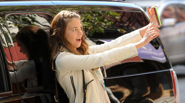 "Sutton Foster on the set of ""Younger"" on October 8, 2014 in New York City. (Photo by Bobby Bank/GC Images)"