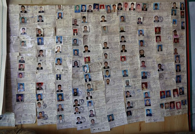 A chart of students who completed their training is seen on a wall at a driving school in Kabul August 18, 2014. (Photo by Mohammad Ismail/Reuters)