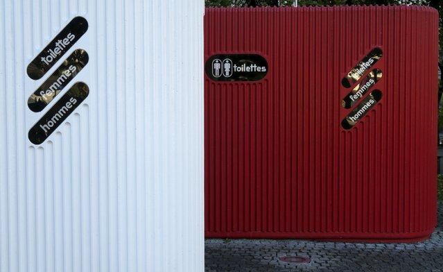 Public toilets are seen in Eidsvolls Plass in Oslo, Norway, October 15, 2015. (Photo by Russell Boyce/Reuters)