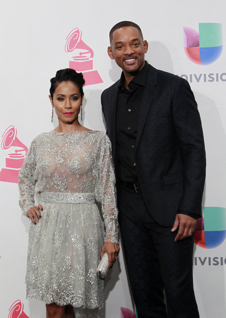 Actors Will Smith and Jada Pinkett Smith pose backstage at the 2015 Latin Grammy Awards in Las Vegas, Nevada November 19, 2015. (Photo by Steve Marcus/Reuters)