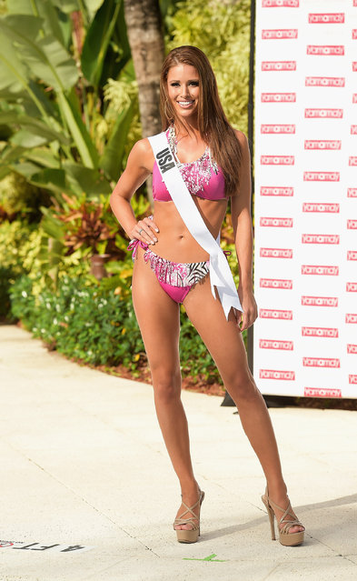 Miss USA Nia Sanchez participates in Miss Universe – Yamamay Swimsuit Runway Show at Trump National Doral on January 14, 2015 in Doral, Florida. (Photo by Gustavo Caballero/Getty Images)