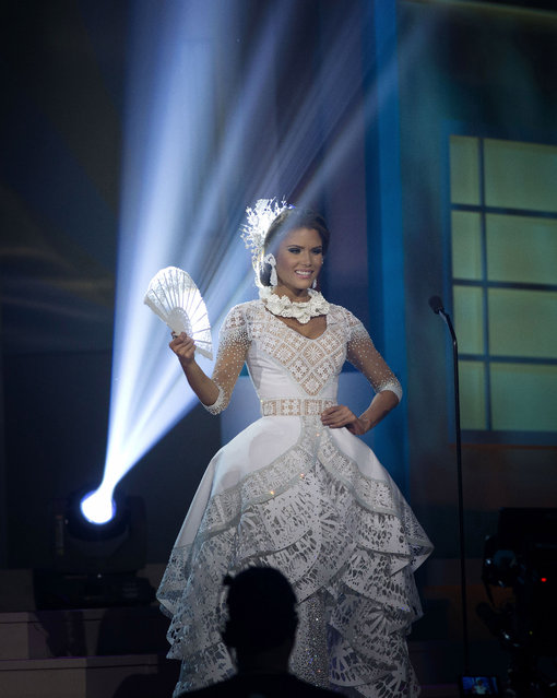 Miss Puerto Rico, Gabriela Berrios, poses for the judges, during the national costume show during the 63rd annual Miss Universe Competition in Miami, Fla., Wednesday, January 21, 2015. (Photo by J. Pat Carter/AP Photo)