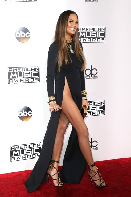 Model Chrissy Teigen attends the 2016 American Music Awards at Microsoft Theater on November 20, 2016 in Los Angeles, California. (Photo by Frederick M. Brown/Getty Images)