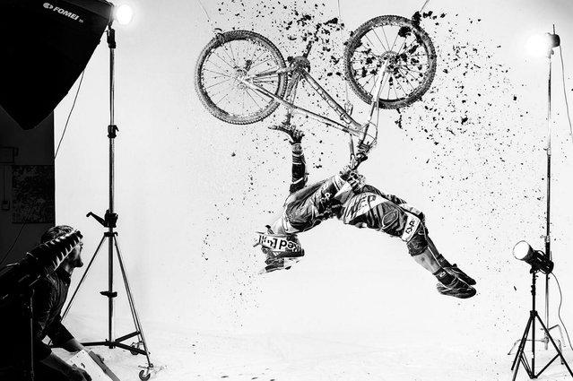 """This stunning shot of athlete Tomas Slavik won the """"New Creativity"""" category and was photographed by Daniel Vojetch. (Photo by Daniel Vojetch/Red Bull)"""