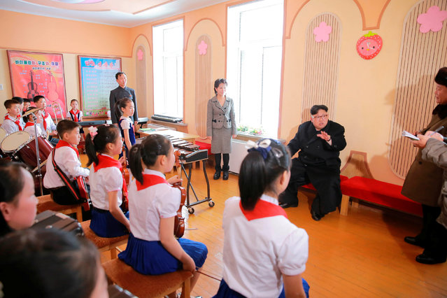 North Korean leader Kim Jong Un gives guidance during his visit to Samjiyon County in this undated photo released by North Korea's Korean Central News Agency (KCNA) in Pyongyang November 28, 2016. (Photo by Reuters/KCNA)