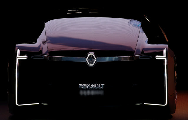 The Renault EZ-ULTIMO car is on display at the Auto show in Paris, France, Tuesday, October 2, 2018, 2018. (Photo by Regis Duvignau/Reuters)