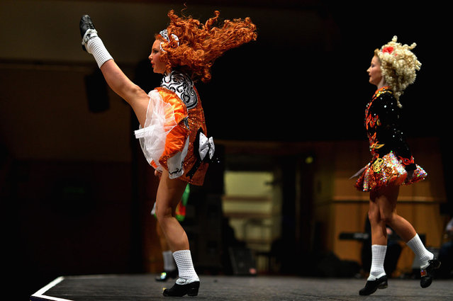 Dancers compete in the 29th All Scotland Irish Dance Championship on February 22, 2013 in Glasgow, Scotland. As many 2,000 competitors are taking part in one of the world's largest Irish dancing competitions with dancers coming from as far afield as North America, Russia, Australia and South Africa. (Photo by Jeff J. Mitchell/Getty Images)