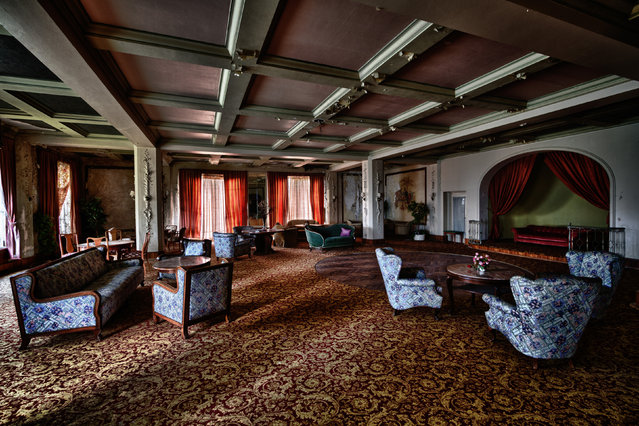 Inside a hotel in Germany. (Photo by Thomas Windisch/Caters News)