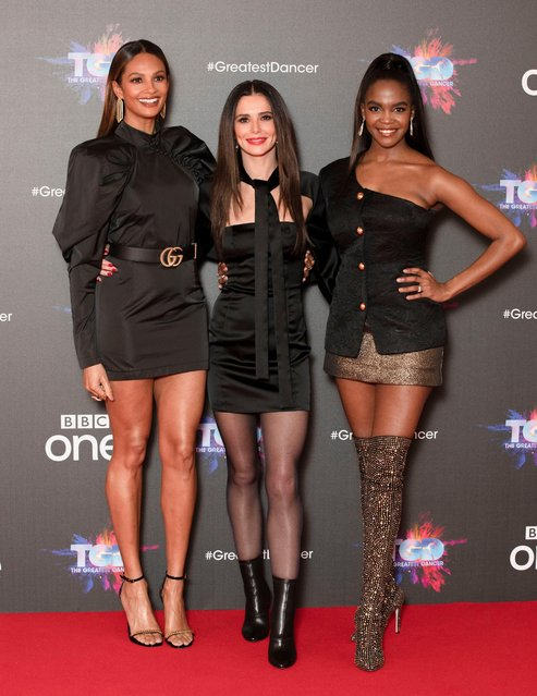 "Alesha Dixon, Cheryl and Oti Mabuse attend a photocall for the BBC's ""The Greatest Dancer"" at The May Fair Hotel on December 10, 2018 in London, England. (Photo by James Shaw/Rex Features/Shutterstock)"