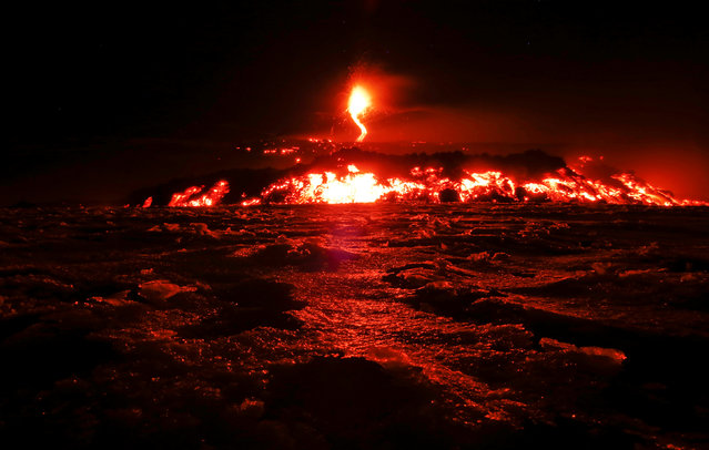 Italy's Mount Etna spews lava as it erupts on the southern island of Sicily, Italy on March 1, 2017. (Photo by Antonio Parrinello/Reuters)