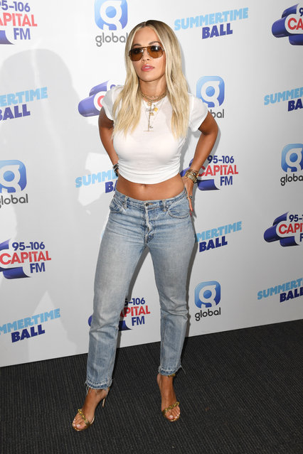 Rita Ora attends the Capital FM Summertime Ball at Wembley Stadium on June 08, 2019 in London, England. (Photo by James Veysey/Shutterstock)