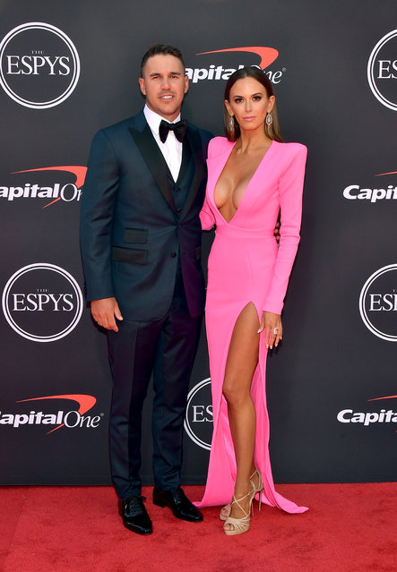 Brooks Koepka and Jena Sims attend The 2019 ESPYs at Microsoft Theater on July 10, 2019 in Los Angeles, California. (Photo by Matt Winkelmeyer/Getty Images)