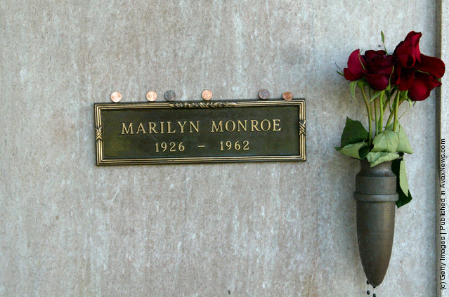 The grave site of late actress Marilyn Monroe