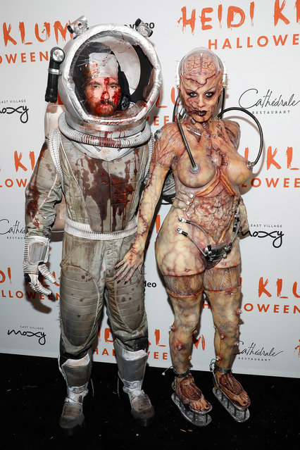 Tom Kaulitz and Heidi Klum attend Heidi Klum's Annual Hallowe'en Party at Cathédrale on October 31, 2019 in New York City. (Photo by Taylor Hill/Getty Images)