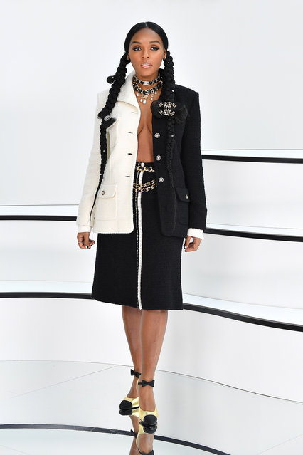 Janelle Monae attends the Chanel show as part of the Paris Fashion Week Womenswear Fall/Winter 2020/2021 on March 03, 2020 in Paris, France. (Photo by Stephane Cardinale – Corbis/Corbis via Getty Images)