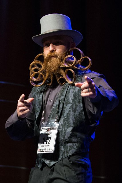 Cary Faulkner attends the 2017 Remington Beard Boss World Beard & Moustache Championships held at the Long Center for the Performing Arts on September 3, 2017 in Austin, Texas. (Photo by Suzanne Cordeiro/AFP Photo)