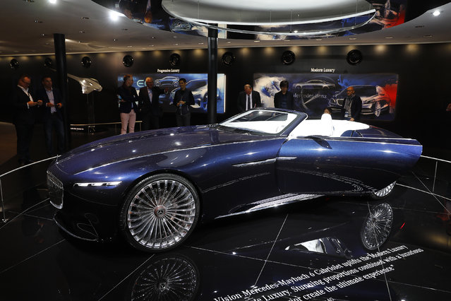 Vision Mercedes-Maybach 6 Cabriolet is displayed during the Frankfurt Motor Show (IAA) in Frankfurt, Germany September 11, 2017. (Photo by Kai Pfaffenbach/Reuters)