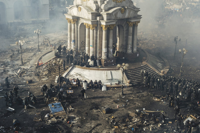 Euromaidan: a Culture of Confrontation. The announcement by the President of Ukraine that the Association Agreement between Ukraine and the European Union would not be signed was the starting point of Euromaidan, a completely peaceful protest by pro-EU Ukrainians. (Photo by Maxim Dondyuk)
