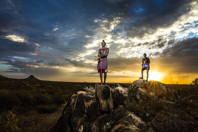 """""""Observer"""". Hamer tribe shepherds observing the area in Omo Valley. Photo location: Ethiopia. (Photo and caption by Goran Jovic/National Geographic Photo Contest)"""