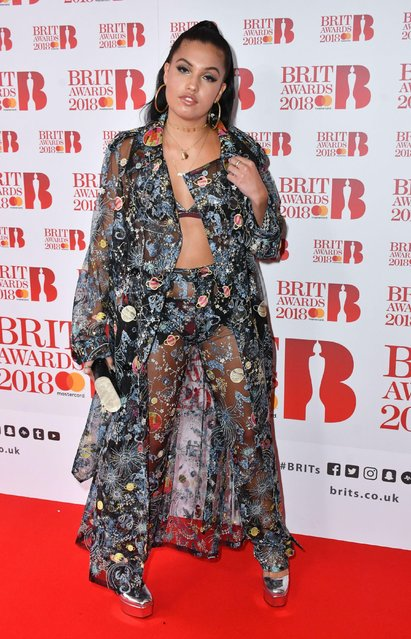 Mabel attends The BRIT Awards 2018 nominations photocall held at ITV Studios on January 13, 2018 in London, England. (Photo by Nils Jorgensen/Rex Features/Shutterstock)
