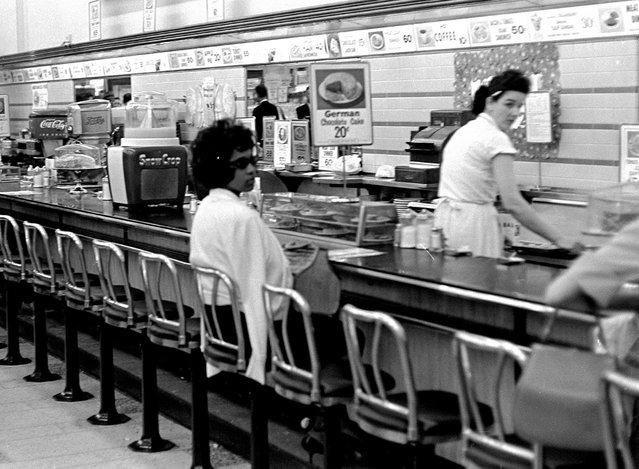Black college student Dorothy Bell, 19, of Birmingham, Alabama, waits at a downtown Birmingham lunch counter for service that never came, April 4, 1963. She was later arrested with 20 others in sit-in attempts. (Photo by AP Photo)