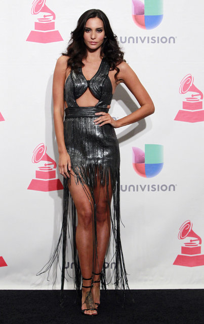 Actress Genesis Rodriguez poses backstage at the 2015 Latin Grammy Awards in Las Vegas, Nevada November 19, 2015. (Photo by Steve Marcus/Reuters)