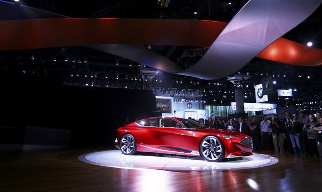 Acura introduces its Acura Precision concept car at the 2016 Los Angeles Auto Show in Los Angeles, California, U.S November 16, 2016. (Photo by Mike Blake/Reuters)