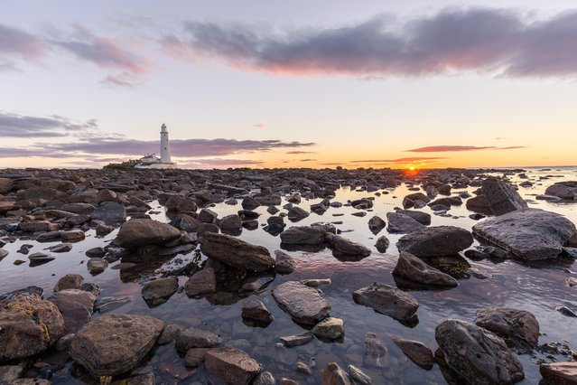 St Mary's Lighthouse, just north of Whitley Bay on August 13, 2016. (Photo by Dave Zdanowicz/Rex Features/Shutterstock)