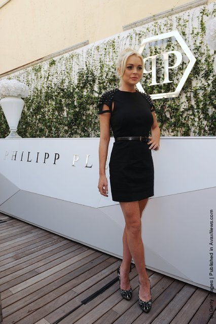 Actress Lindsay Lohan is introduced as the new face of the Philipp Plein S/S 2012 campaign during Milan Fashion Week Womenswear S/S 2012 at Philipp Plein Showroom