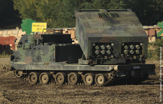 A Mars missile launcher of the German Bundeswehr