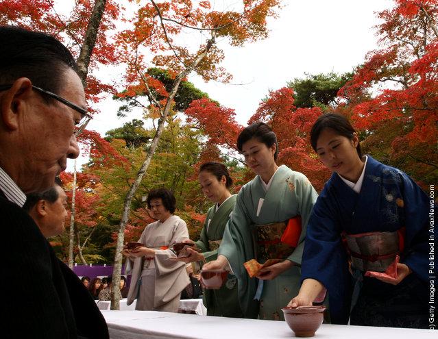 Tea ceremony in Kobe, Japan