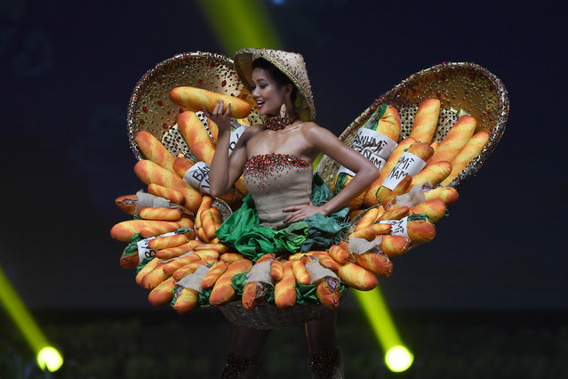H'Hen Nie of Vietnam poses on stage during the 2018 Miss Universe national costume presentation in Chonburi province on December 10, 2018. (Photo by Lillian Suwanrumpha/AFP Photo)