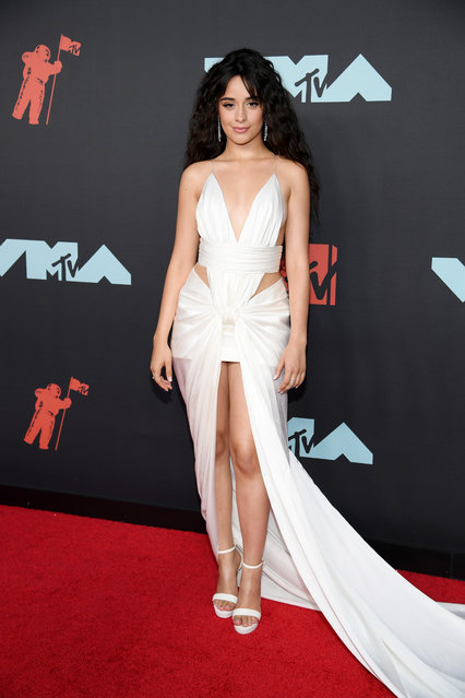 Camila Cabello attends the 2019 MTV Video Music Awards at Prudential Center on August 26, 2019 in Newark, New Jersey. (Photo by Dimitrios Kambouris/Getty Images)