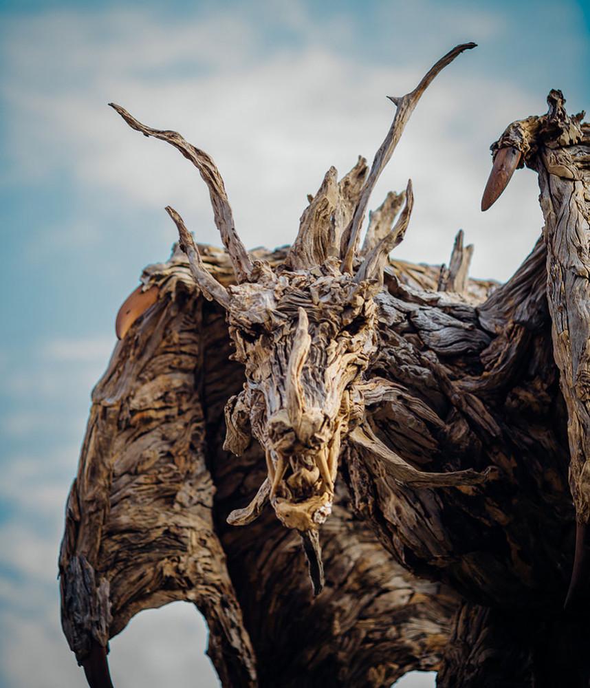 Driftwood Dragons Sculptures by James Doran