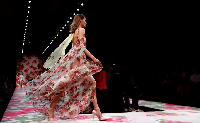 A model presents a creation from the Blumarine Spring/Summer 2020 collection during fashion week in Milan, Italy, September 20, 2019. (Photo by Alessandro Garofalo/Reuters)