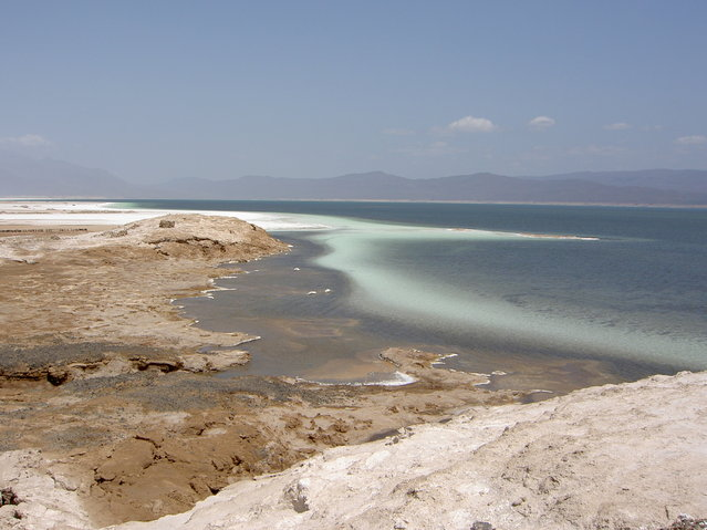 Lake Assal Crater Lake In The Central Djibouti