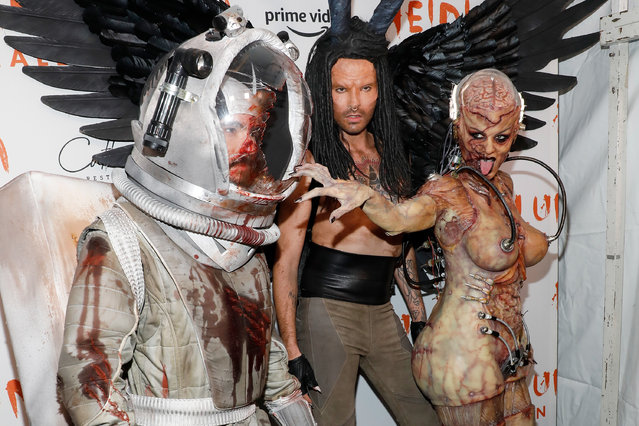 Tom Kaulitz, Bill Kaulitz, and Heidi Klum attend Heidi Klum's Annual Hallowe'en Party at Cathedrale on October 31, 2019 in New York City. (Photo by Taylor Hill/Getty Images)