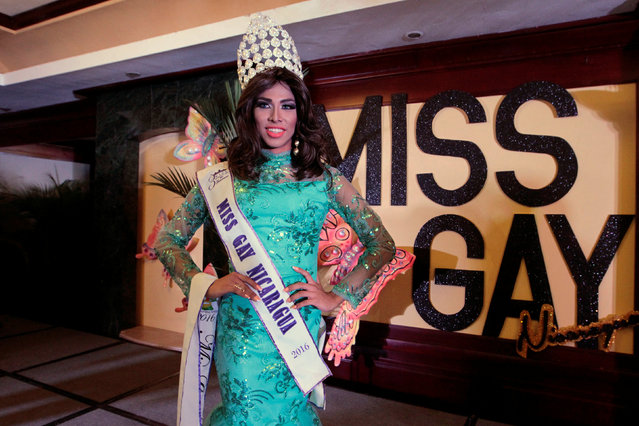 """Itzel Sandino poses for a photo after being crowned  """"Miss Gay Nicaragua 2016"""" beauty pageant in Managua, Nicaragua June 25, 2016. Picture taken June 25, 2016. (Photo by Oswaldo Rivas/Reuters)"""