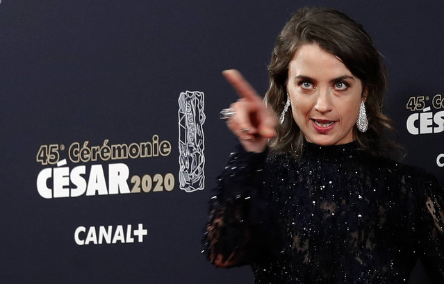Actress Adele Haenel poses as she arrives to attend the Cesar award ceremony, Friday, February 28, 2020 in Paris. The Cesar awards ceremony for France is the equivalent of the Oscars. (Photo by Christophe Ena/AP Photo)