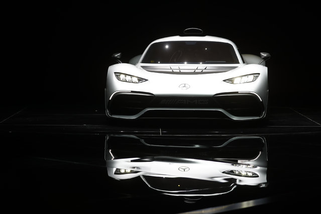 New Mercedes AMG Project One car is presented during the Frankfurt Motor Show (IAA) in Frankfurt, Germany September 11, 2017. (Photo by Kai Pfaffenbach/Reuters)